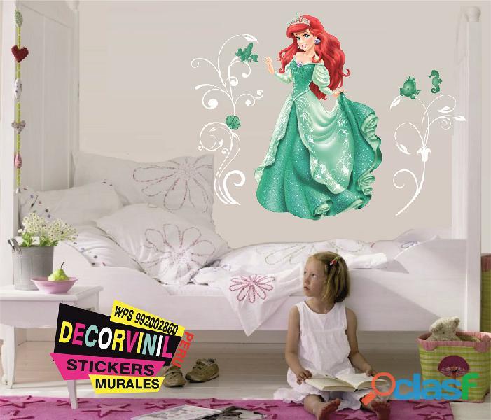 vinilos princesas disney  Decoración de habitaciones niñas 8