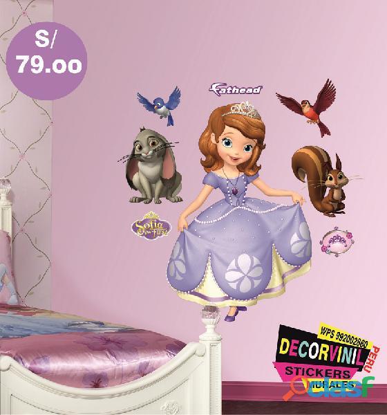 vinilos princesas disney  Decoración de habitaciones niñas 7