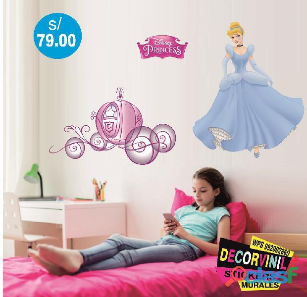 vinilos princesas disney  Decoración de habitaciones niñas 5