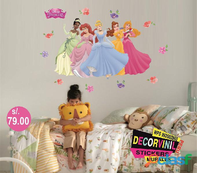vinilos princesas disney  Decoración de habitaciones niñas 3
