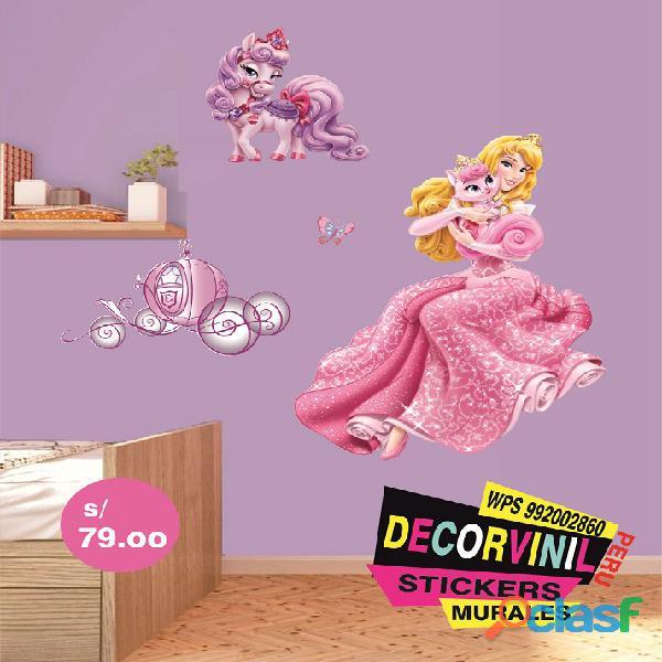 vinilos princesas disney  Decoración de habitaciones niñas 2