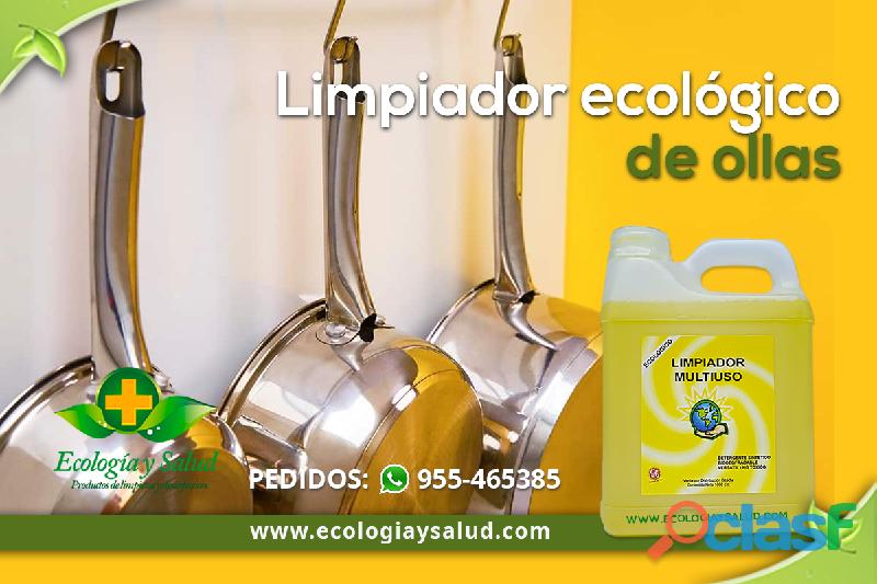 Limpiador y desinfectante ecológico de ollas
