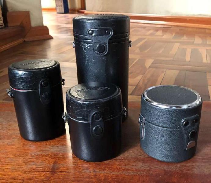 Estuches fundas rigidas para lentes fotografia Tapasoles