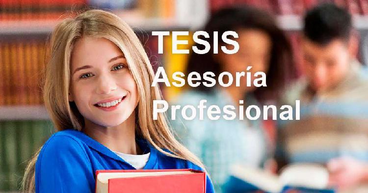 Tesis, asesor, asesoría profesional. en corto tiempo.