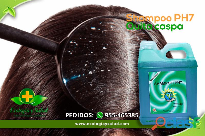 Shampoo ph7 ecologico sin sal, para cabello, quita caspa