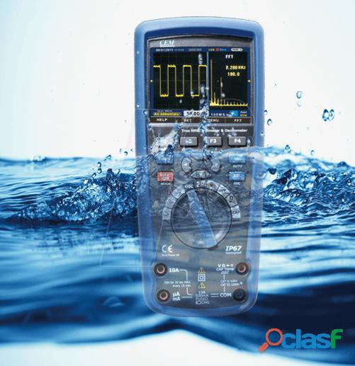 CEM DT 9989 Multímetro True RMS, Osciloscopio, bluetooth, IP67, CAT III 7
