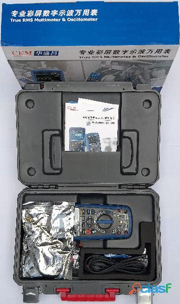 CEM DT 9989 Multímetro True RMS, Osciloscopio, bluetooth, IP67, CAT III 13