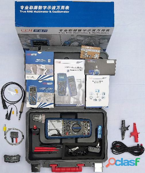 CEM DT 9989 Multímetro True RMS, Osciloscopio, bluetooth, IP67, CAT III 14