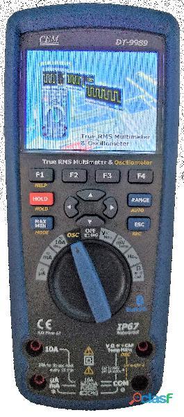 CEM DT 9989 Multímetro True RMS, Osciloscopio, bluetooth, IP67, CAT III 15