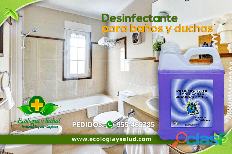 Desinfectante ecologico para duchas
