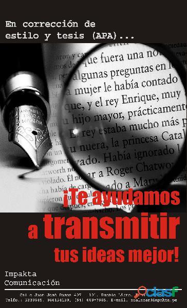 EDITOR   CORRECTOR DE TESIS Y ESTILO APA 1