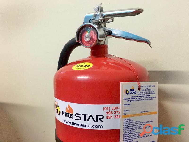 Extintor de 20 Libras Certificacion UL 1