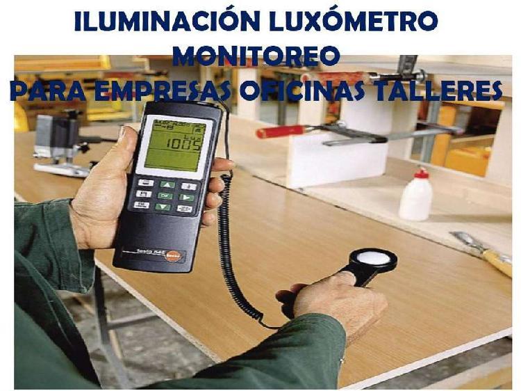 Monitoreo iluminación luxómetro para oficinas talleres