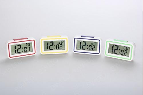 Reloj de mesa digitales colores números grandes ewtto