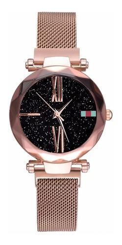Reloj de mujer acero inoxidable moda imantado romanos