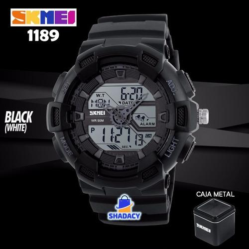 Relojes hombre skmei 1189 shock reloj digital analogo luz