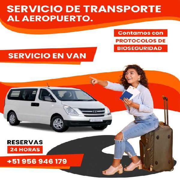 Servicio en van para traslados y recojos del aeropuerto en