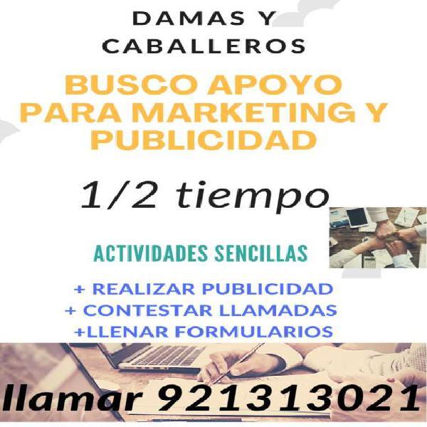 Auxiliar en marketing en chiclayo