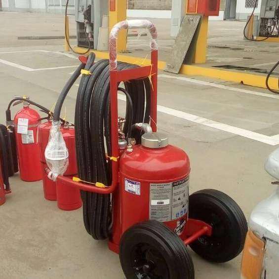 Extintor rodante de 125 libras con certificacion ul 320 en