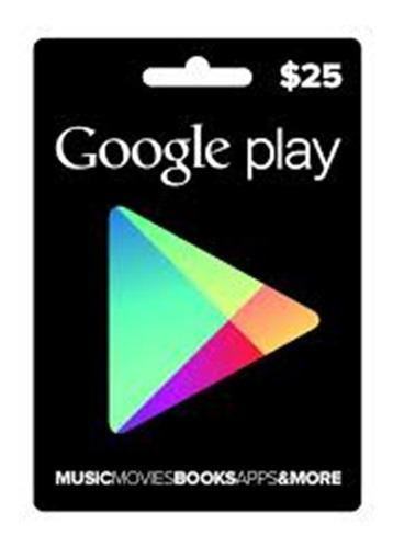 Google play 25 dolares usa americana playstore gift card usd