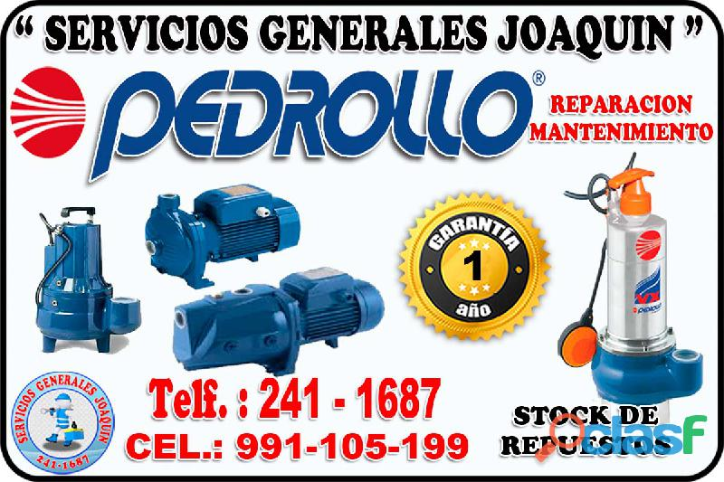 Expertos reparacion electrobombas pedrollo 991 105 199