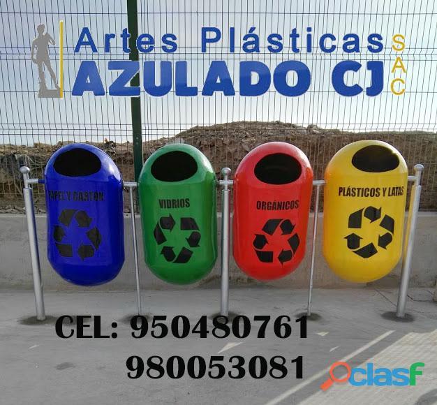 Tachos de basura en fibra de vidrio