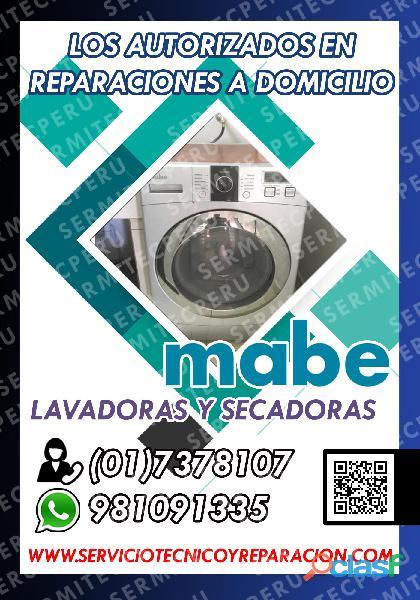 Rapidez y economía Técnicos de LAVADORAS MABE 017378107 >Ate