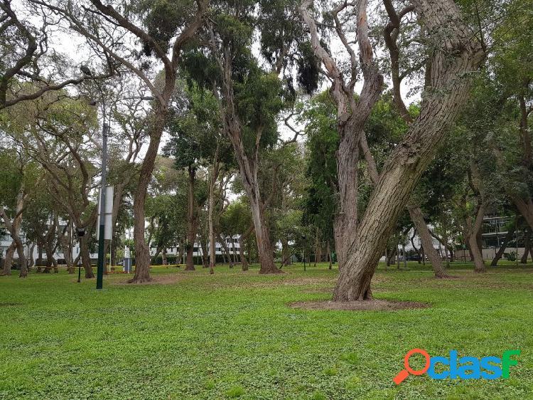 Departamento en Alquiler en Jacinto Lara en San Isidro, Hermoso con Vista y Salida Parque Privado, Terraza 1