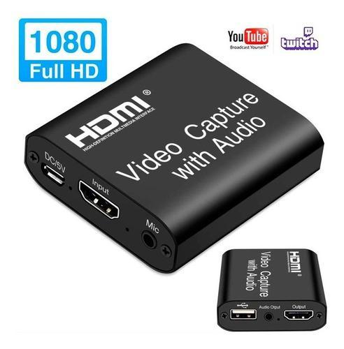 Captura video y audio loop hdmi - usb 4k 1080p