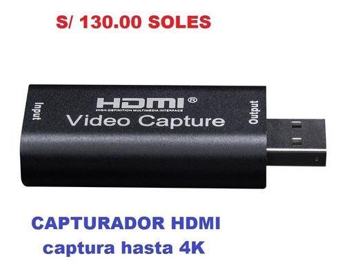 Capturador de video hdmi a usb