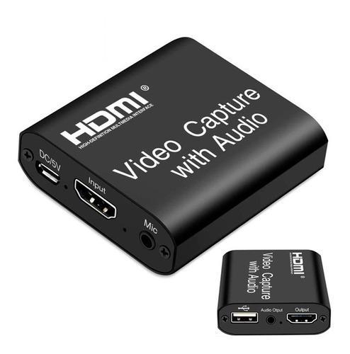 Capturadora de video y audio loop hdmi - usb 4k 1080p juegos
