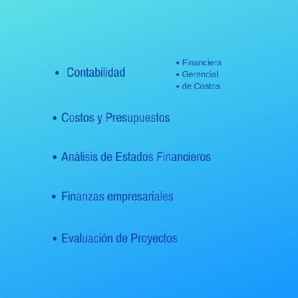 Clases trabajos de costos contabilidad finanzas proyectos