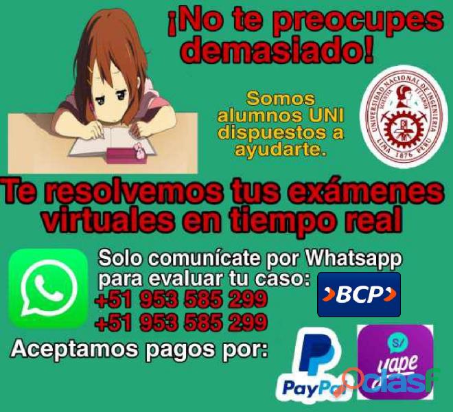 Resolución exámenes y tareas de todo nivel en Lima
