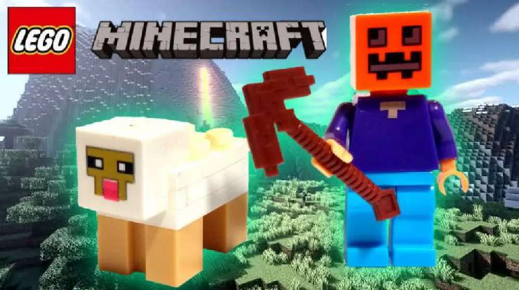 Lego minecraft (steve con calabaza & oveja)