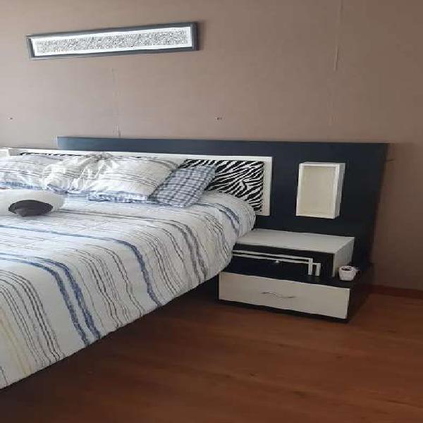 Juego de dormitorio de madera 2 plazas