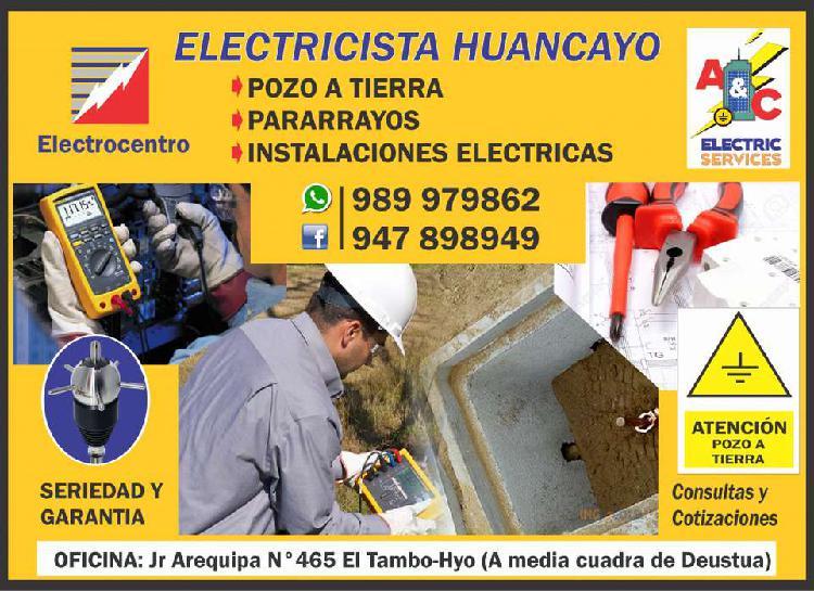 Electricista huancayo: pozo a tierra, pararrayos,