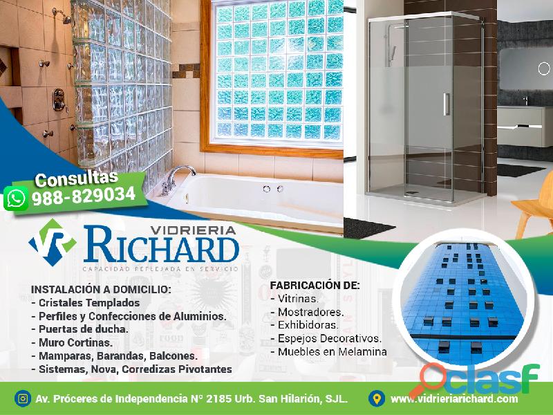 Vidrieria richard – aluminio y vidrio  puertas ventanas