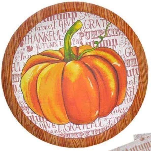 Platos De Papel Decoración Halloween O Acción De Gracias