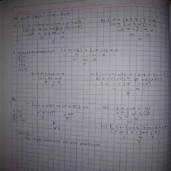 Realizó tareas de matemática nivel primaria y secundaria