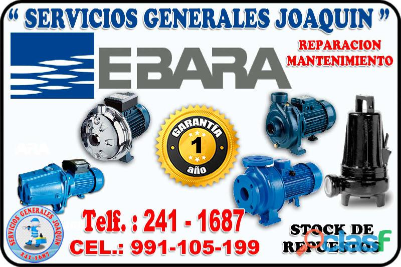 Rebobinados reparacion electrobombas EBARA 991 105 199 en todo lima