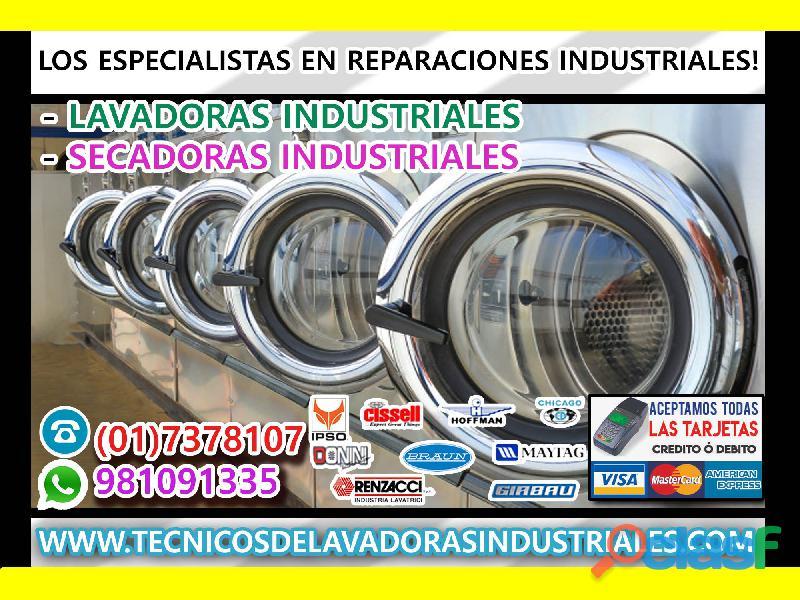 Reparación de LAVADORAS INDUSTRIALES CIMELCO>> 998160326