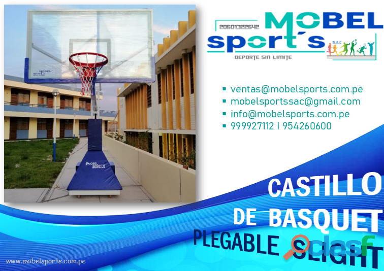 Tablero de basquet plegableslight mobel sports