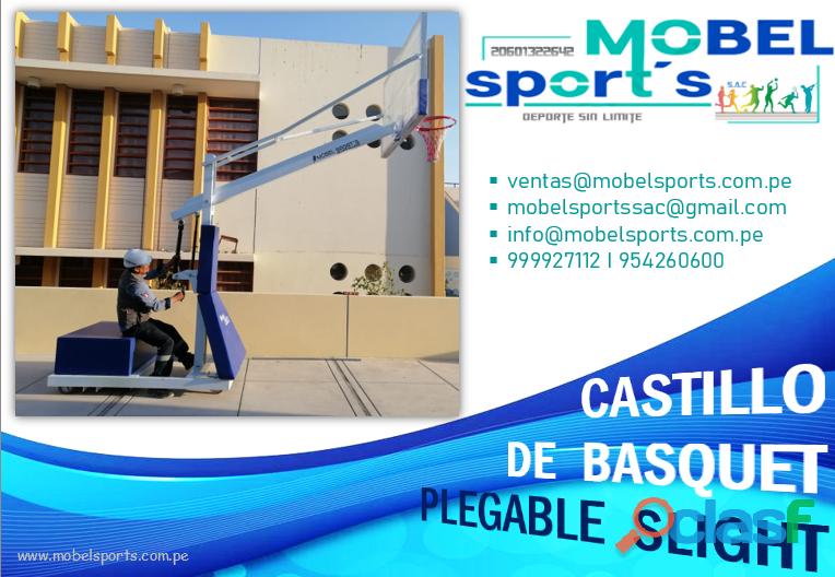TABLERO DE BASQUET PLEGABLESLIGHT MOBEL SPORTS 4