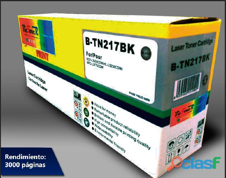 TN 217K Toner Brother HL L3270cdw/DCP L3551cdw/MFC L3750cdw Black 3.0K 1