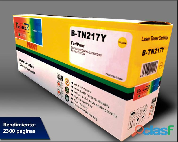 TN 217K Toner Brother HL L3270cdw/DCP L3551cdw/MFC L3750cdw Black 3.0K 3
