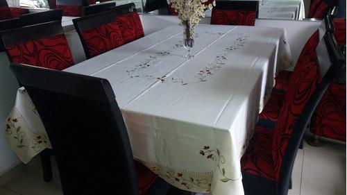Lindos manteles 100% polyester tablecloth + 8 servilletas