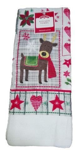 Mantel navideño cocina renos 63cm walmart regalo navidad