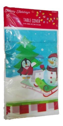 Mantel plastico pinguino hombre nieve 274cm regalo navidad a