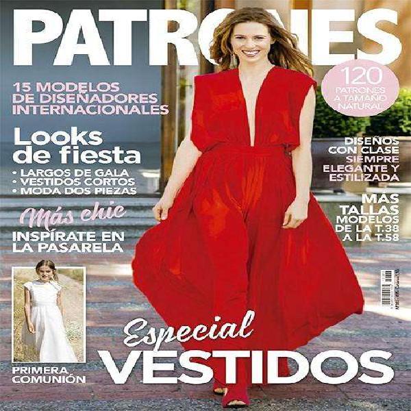Revista patrones 383, especial vestidos, 120 patrones