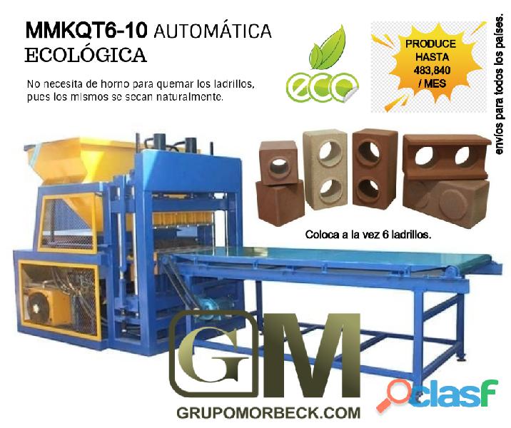 Máquinas ecológica para fabricar ladrillos de arcilla